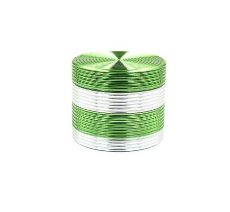 Nueva alta calidad colorida 50 * 40 mm 4 partes de aleación de zinc amoladora de hierba para fumar tabaco amoladora de hierbas al por mayor
