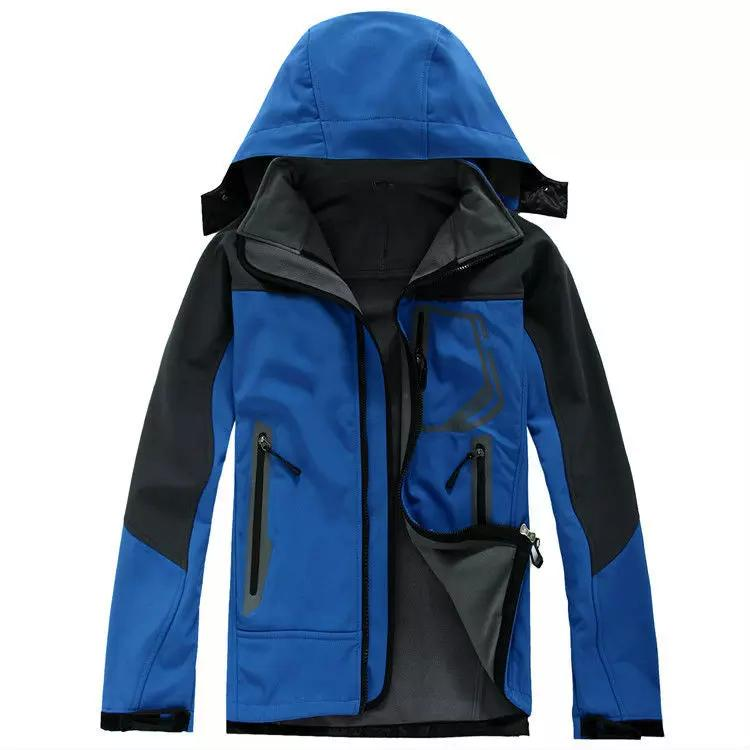 Giacca da uomo invernale nera SoftShell da esterno impermeabile antivento abbigliamento manica lunga uomo inverno cappotti taglia S-2XL