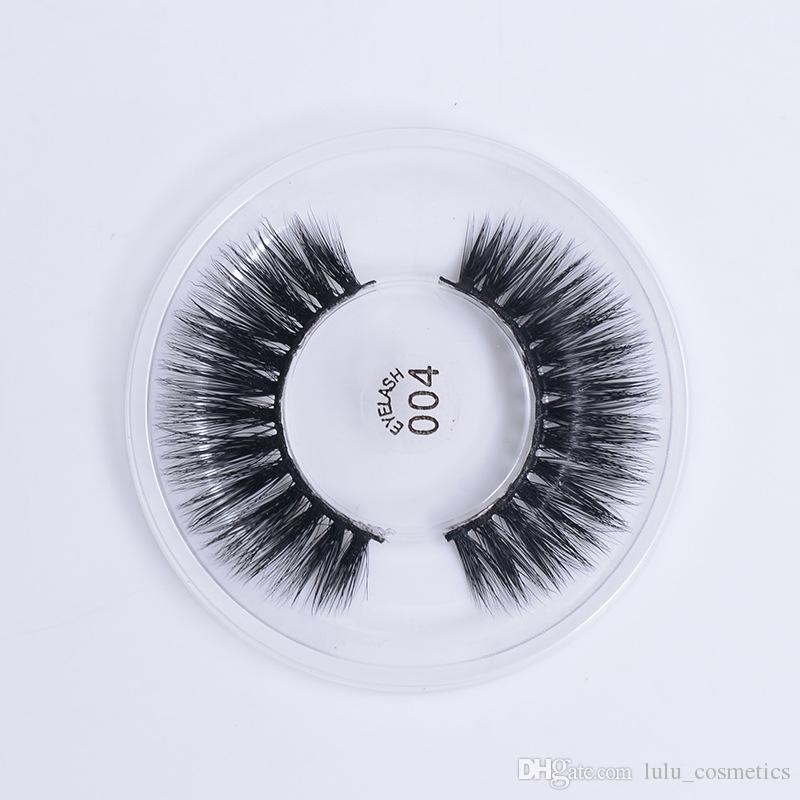 3D Natural False Eyelashes Soft Silk Fiber Fake Lashes Cross Long Wispy Sexy Eye Lashes Extension Beauty Makeup Tools 004