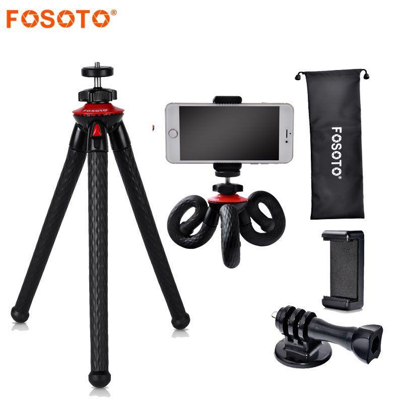 wholesale UFO Mini Flexible Waterproof Octopus Tripod Stand&Phone holder For Gopro iPhone X Smartphone DSLR Camera Nikon Canon