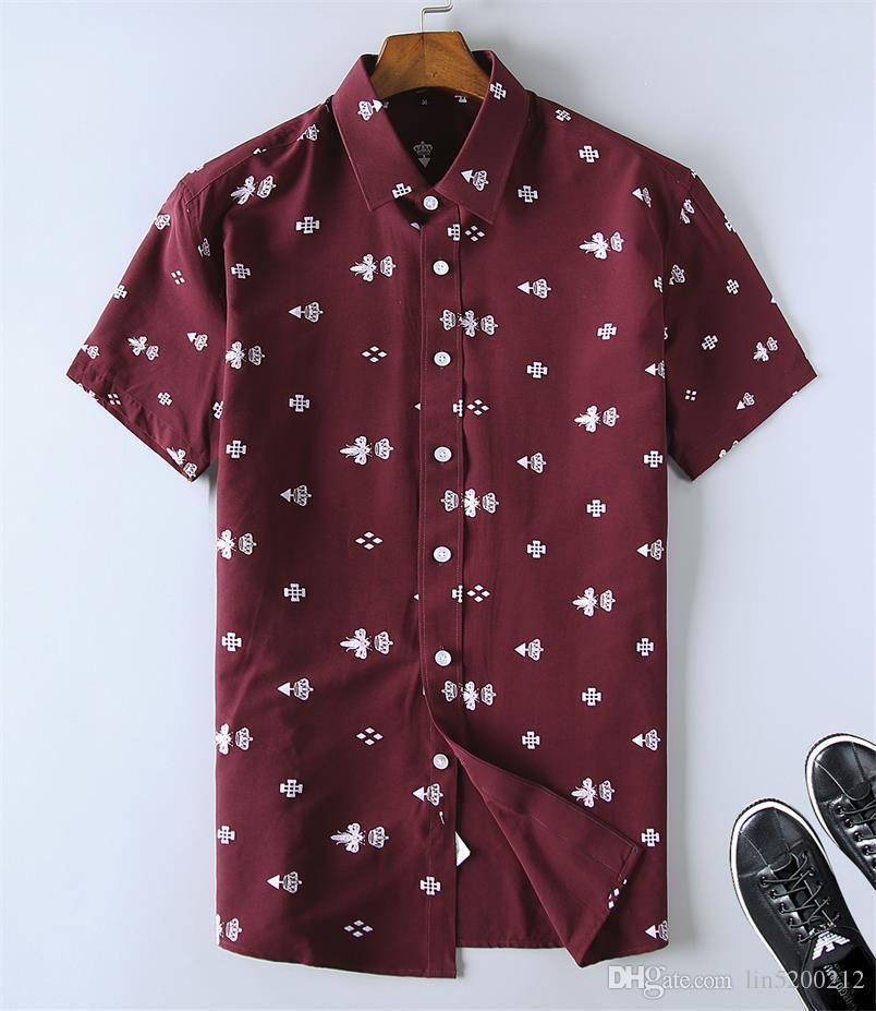 Camicie da uomo Abbigliamento Uomo Slim Fit plaid casuale del progettista abito camicia estiva Chemise Homme Mens scacchi Camicie maniche corte Camicetta CA8