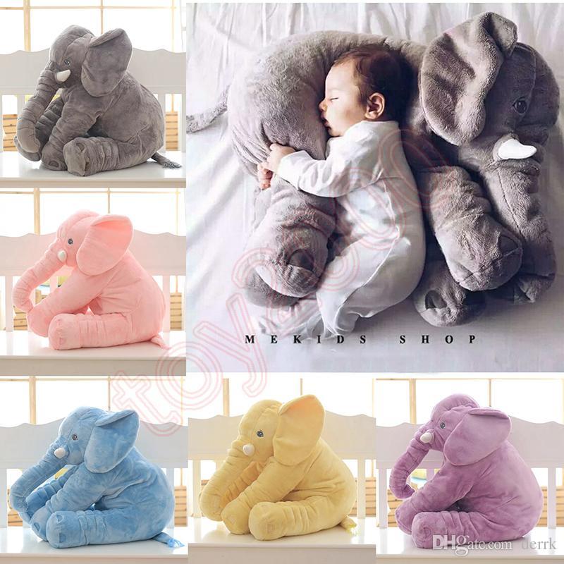 65 센치 메터 40 센치 메터 봉제 코끼리 장난감 아기 수면 쿠션 부드러운 박제 동물 베개 코끼리 인형 신생아 놀이 인형 아이 장난감 퀴시