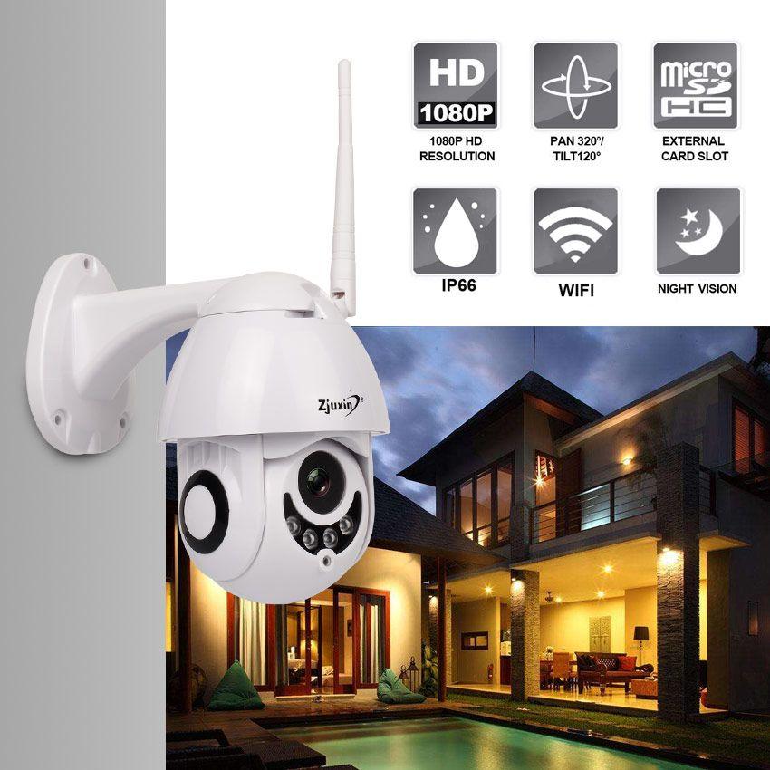 Caméras ZJuxin Caméra IP WiFi HD 2MP 960P 1080P Sans fil PTZ Spectacle Dôme CCTV IR Sécurité de Sécurité de plein air IPCAM Camara