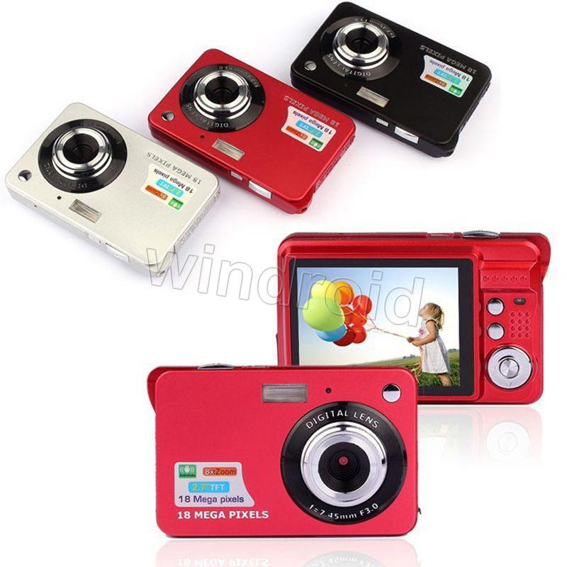 2.7 pulgadas TFT LCD HD 720P 18MP K09 Cámara digital Videocámara Sensor CMOS 8x Zoom digital Anti-vibración Anti-ojos rojos Cámara digital DHL 20pcs