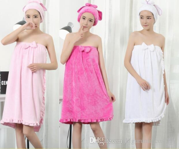 Une taille en gros serviettes peignoirs femmes vêtements robes tissu impression robes de flanelle maillots de bain salle de bains maillots de bain