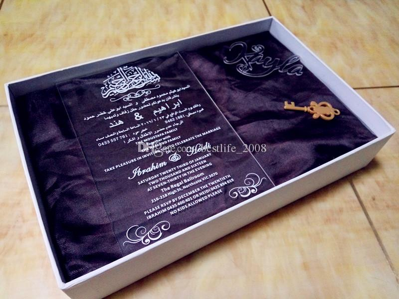 Прозрачные приглашения, Акриловые приглашения на свадьбу, свадебные приглашения, свадебные приглашения, акриловые приглашения (165ммx114ммx2мм)