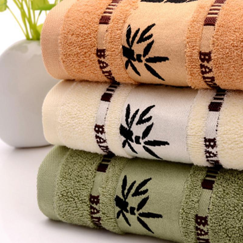 HOLAYOUNG Bamboo Leaf Soft Bamboo Fiber Toalla para adultos Baño grueso Super Absorbent Towel 34x74cm