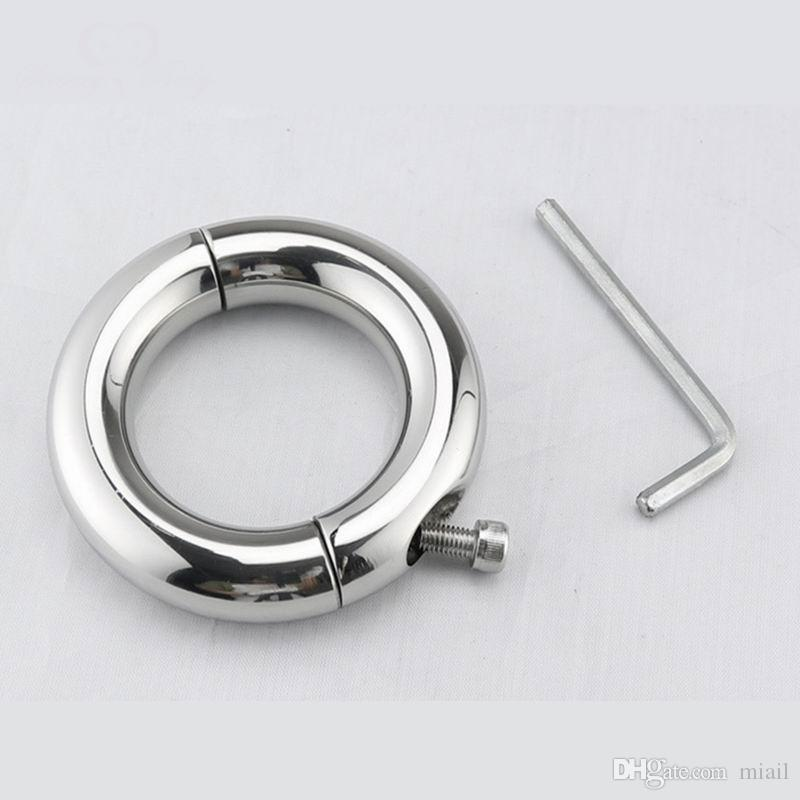 Stainless Steel Penis Cock Rings Scrotum Ring Bondage Penis Stretch Sex Ring Ball Stretcher Sex Toys for Men Delay Ejaculation
