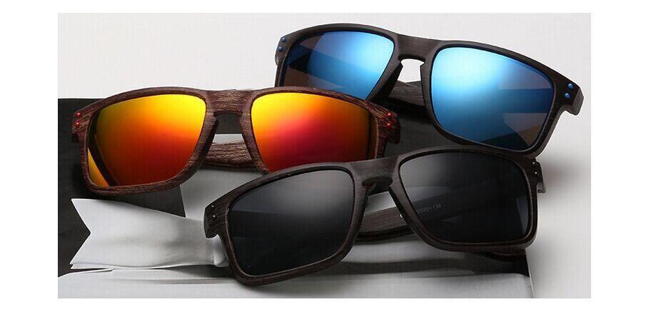 Al por mayor-Nueva moda al aire libre deportes marco de madera gafas de sol gafas de sol para mujer y para hombre gafas de sol de lujo clásico envío gratis