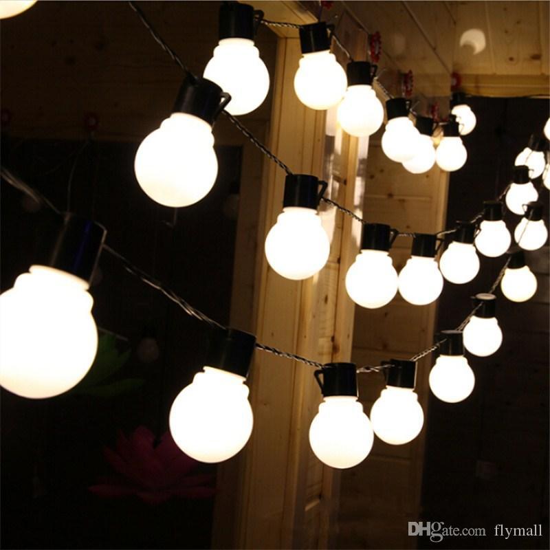 outdoor 20 led wedding string fairy light christmas LED Globe Festoon Ball led fairy string light party wedding garden garland