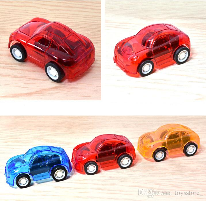 Kids gift candy color mini pull back car Transparent pull back car Booth toy Giveaway small toys