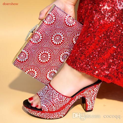 Verano que vende zapatos de la boda africana fijados bolsos a juego y bolso de estilo! BV1-4 mujer tacones altos zapatillas y fijados gratis envío gratis para putqm