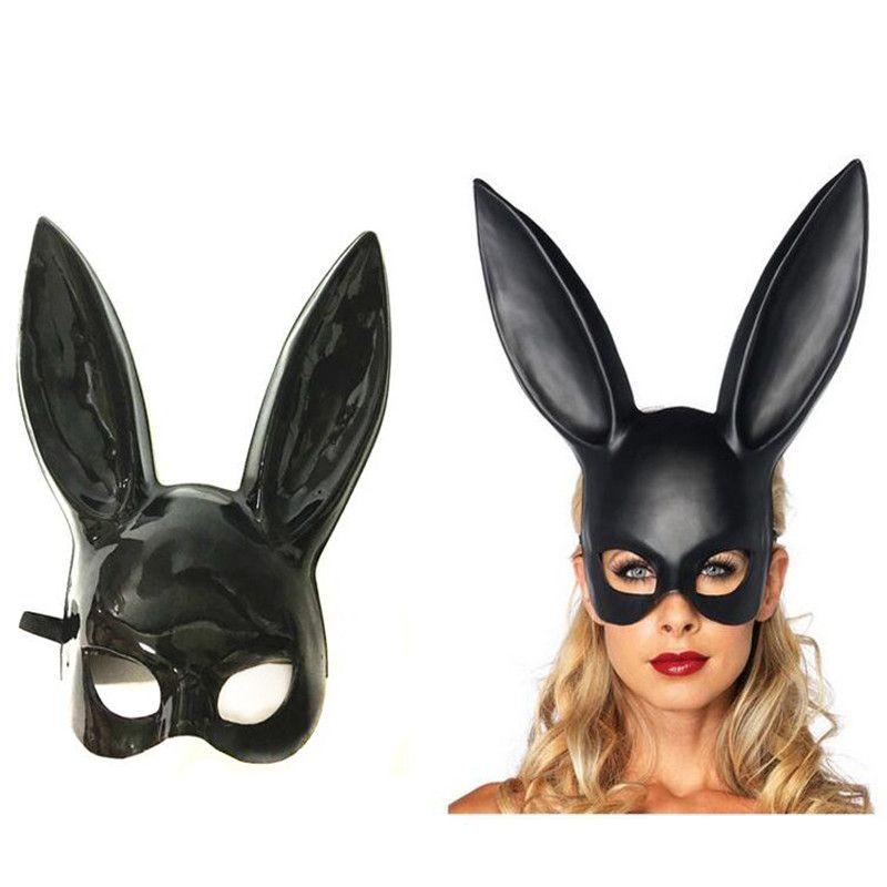 Lots Women Lady Carnival Easter Rabbit Ear Mask Hen Night Fancy Dress Bunny Costume Props Carnival Party Masks Halloween