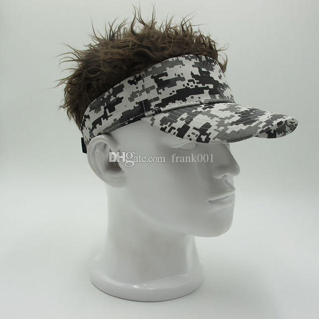 새로운 패션 남성 여성 카모 코튼 웃긴 가발 야구 모자 남성 여성 성인 조절 캐주얼 Snapback Hat