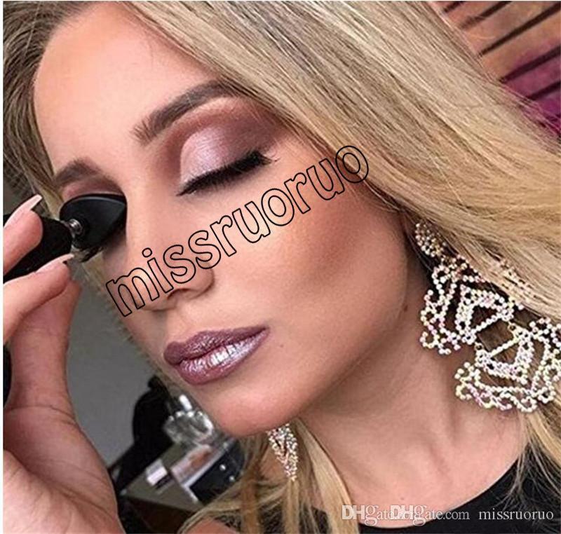 Tembel HUADI GÜZELLIK Damga Crease Glitter Göz Farı Mühür Göz Makyaj Aracı siyah mini Hızlı moda basit kozmetik makyaj Perakende paket