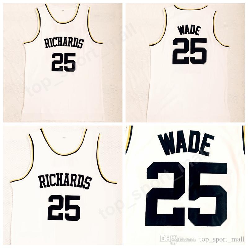 Richards 25 Dwyane Wade High School Jerseys Men All Stitched Basketball Dwyane Wade Jersey Sports Uniforms High Quality