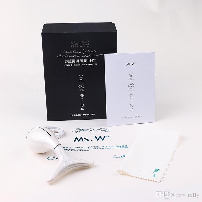 LED Hals Schönheit Massagegerät Anti Falten Doppelkinn Entfernung Lymphdrainage Photon Therapie Vibration Massage Maschine