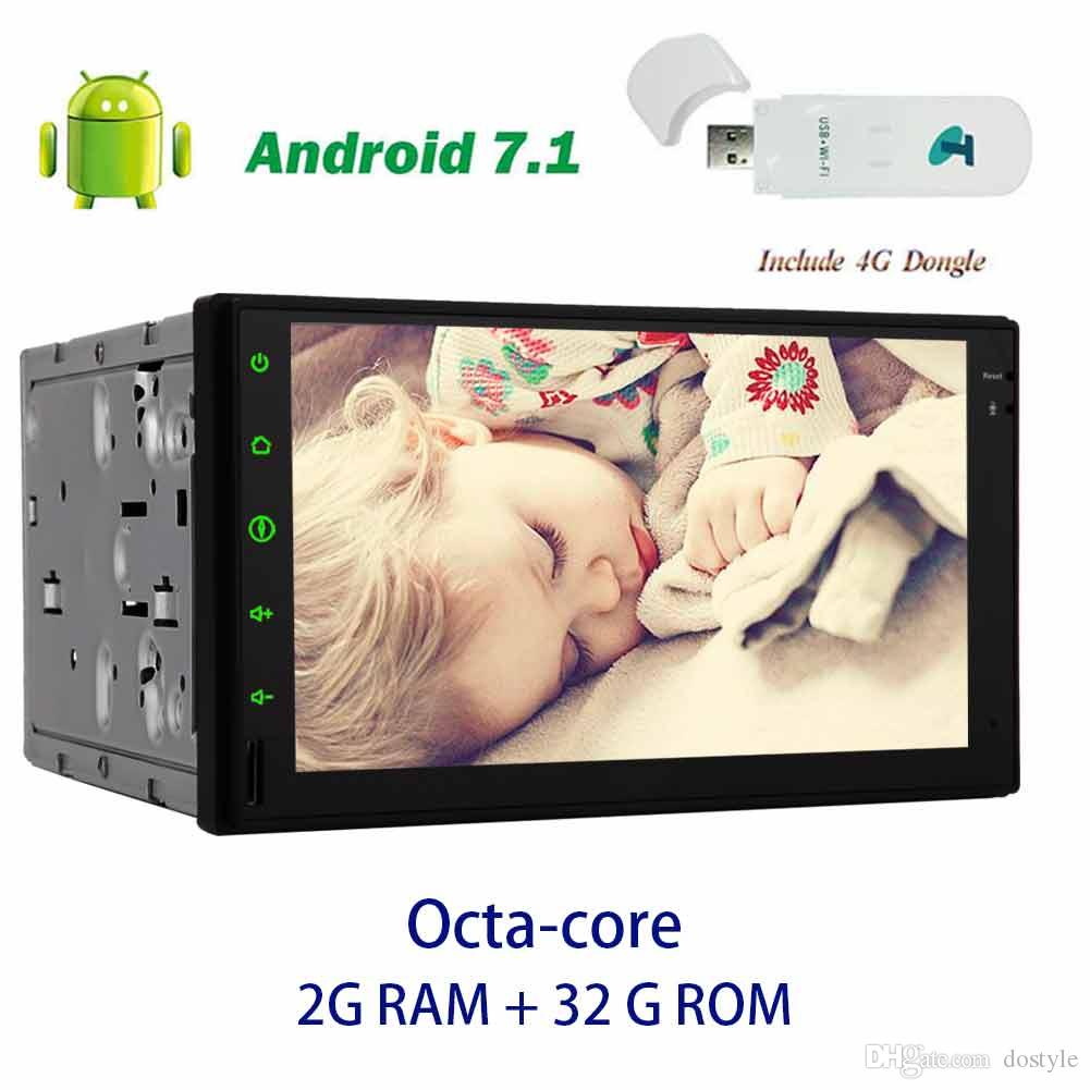 Double Din Headunit Vehicle autoradio Receiver EinCar Android 7.1 no DVD Player Octa Core 7'' Car radio Stereo GPS Navigation In Dash