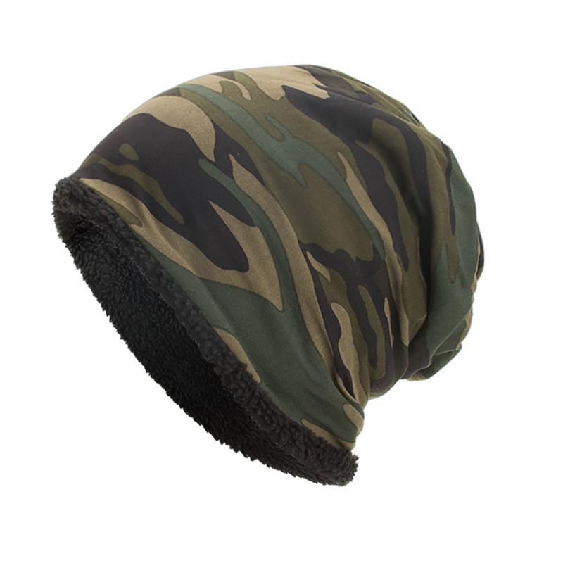 4 color 2018 Women Men Warm Baggy Camouflage Crochet Winter Wool Ski Beanie Skull Caps Hat