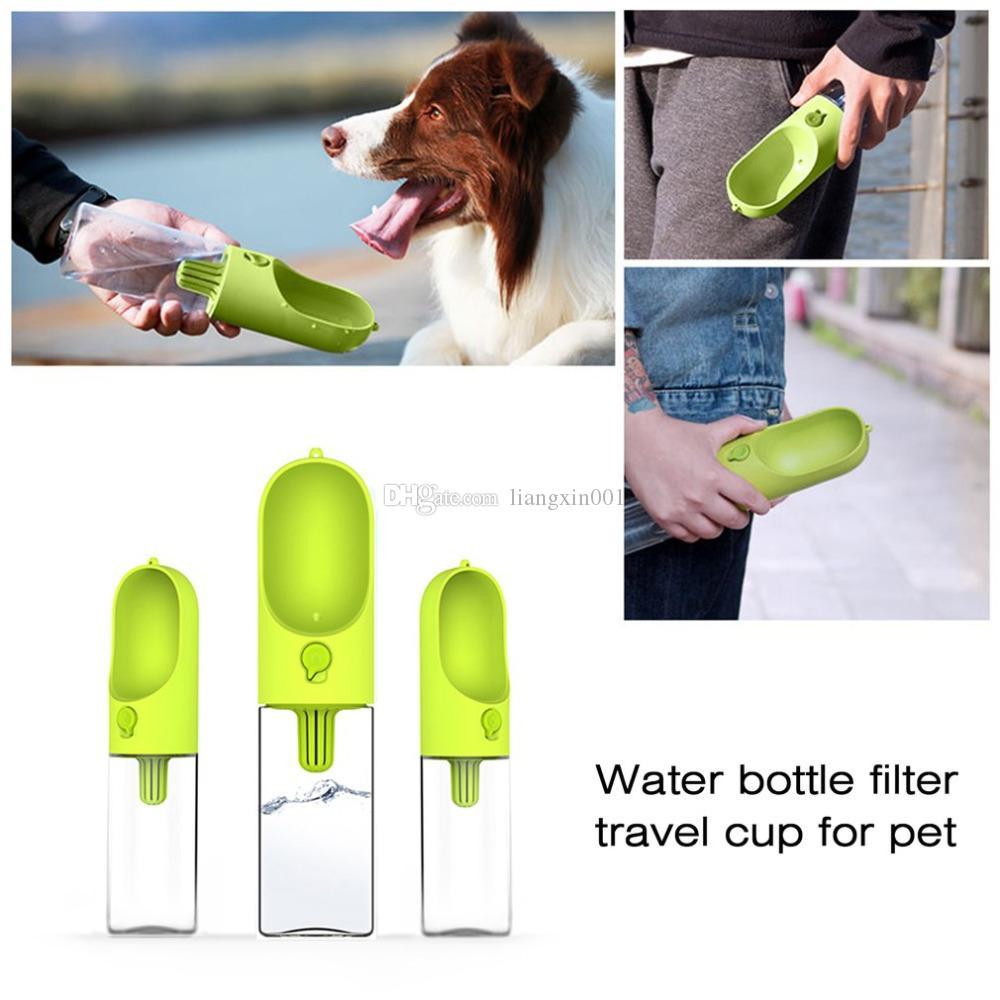 400ML Pet Dog Fedding Bottiglia Food Grade in plastica Outdoor Travel portatile Pet Dog Cat potabile acqua bottiglia strumento Drop Shipping