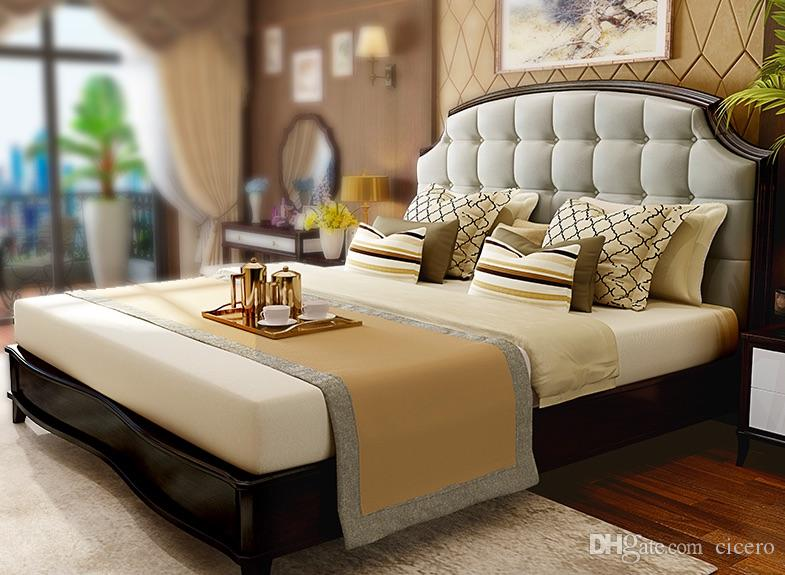2019 With Mattress 1800*2000mm Black Walnu Luxury New American Style  Classic Bed Bedroom Furniture From Cicero, $17889.45 | DHgate.Com