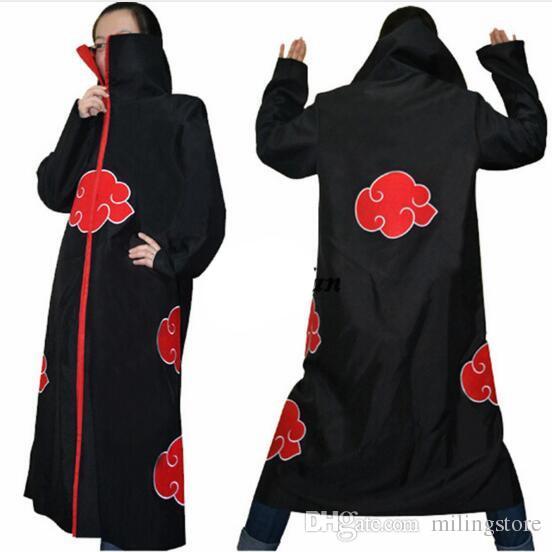 Costume cosplay Naruto Akatsuki Mantello con cappuccio Naruto Uchiha Itachi Costume cosplay anime