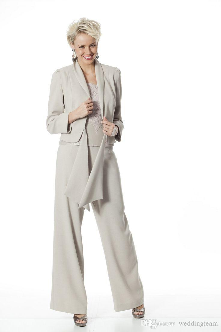 Elegant Three Pieces Mother Of The Bride Pant Suits With Jackets ...