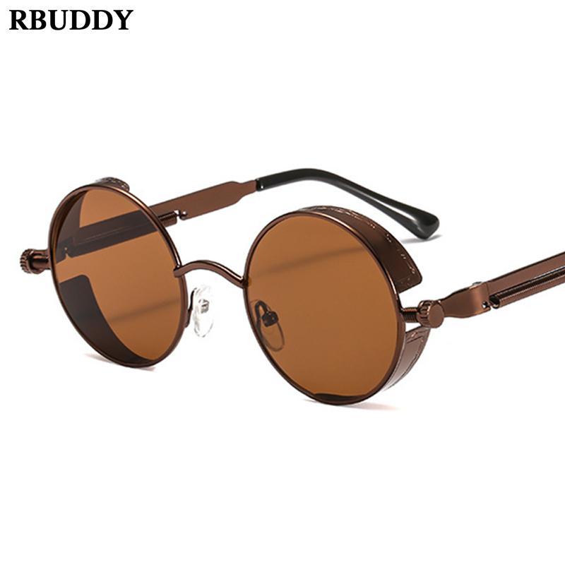 Vintage ronde punk lady lunette lunettes de soleil femmes Creative lunettes de soleil marque lunettes de soleil lunette de soleil femme mujer