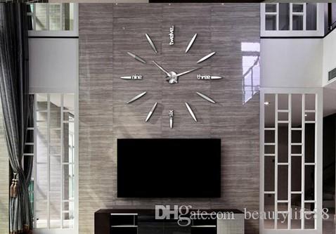 بسيط كبير ساعة الصواريخ الإبداعية ساعة الحائط غرفة المعيشة ملصقات الحائط الحديثة diy الفن شخصية بسيطة كبيرة ساعة الحائط creclock المخططات