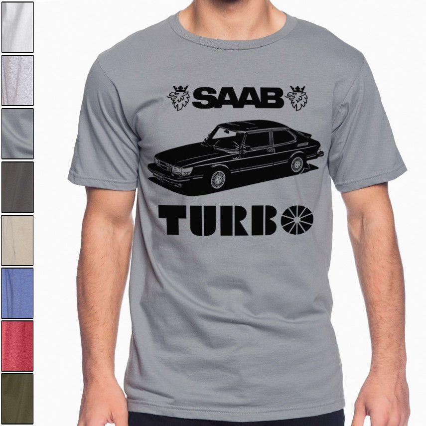 Saab 900 Turbo Yumuşak Pamuk Tişört Çok Renkler S-3XL Ralli Yarışı Wrc