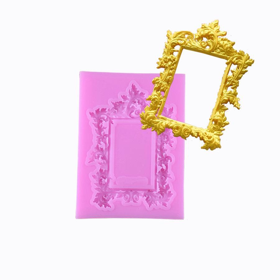 Joyería hecha a mano DIY Cristal gota Arcilla Patrón de marco europeo común sílice Molienda y Hornear herramienta