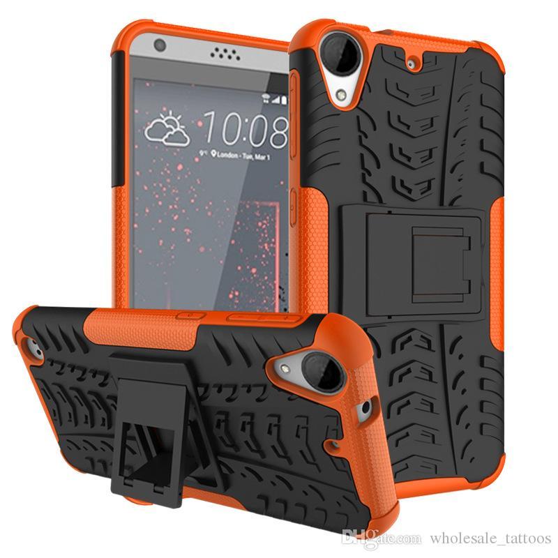 Dla Nokia 6 2018 1 8 5 3 2 6 HTC One 2 M8 A9 Desire 728 828 530 630 Desire 10 Lifestyle 825 Cover Kickstand Armor TPU PC szokowy