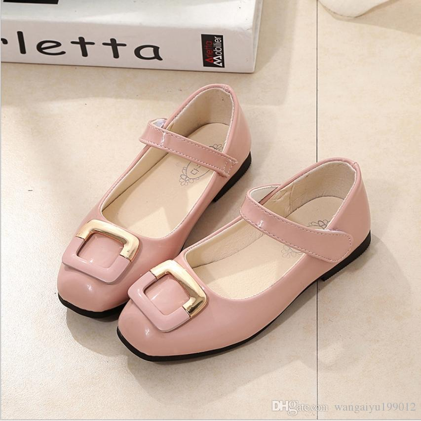 Datong flat Baotou breathable baby show girls small shoes spring models 2018 new princess Korean version