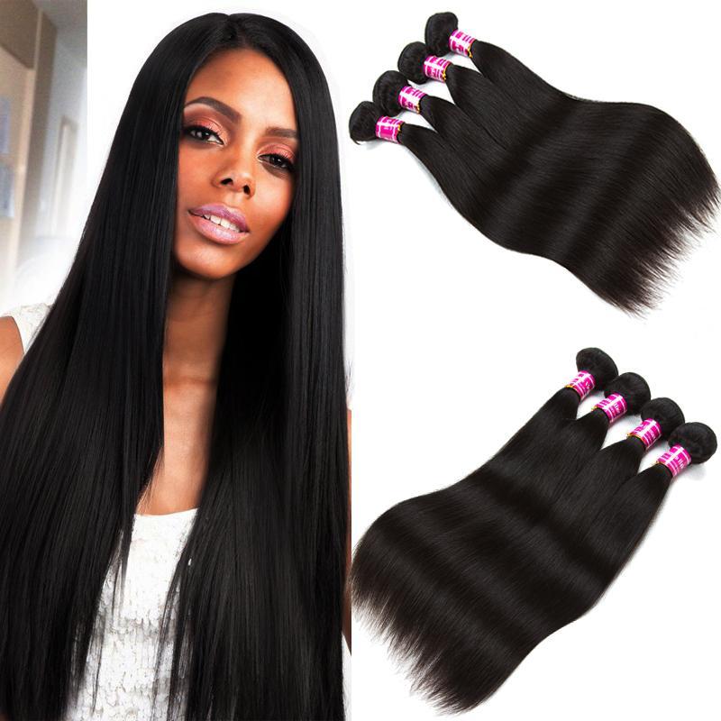 Wholesale 8A Peruvian Straight Human Hair 5 Bundles Unprocessed Brazilian Malaysian Indian 100% Virgin Human Hair Weave Extensions Dyeable