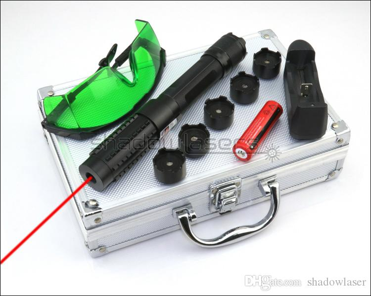 Shadowlasers RX6 ad alta potenza regolabile fuoco 650nm puntatore laser rosso laser torcia Lazer fascio di caccia torcia elettrica 18650 Li batteria