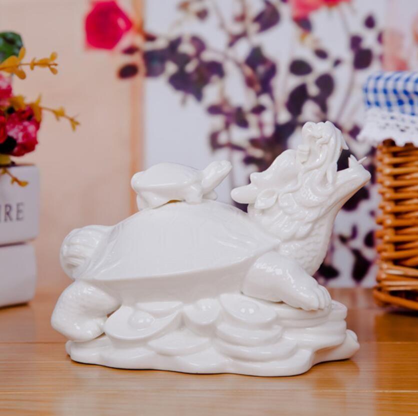 ceramic ortoise Sea turtle home decor crafts room decoration ceramic handicraft ornament Dragon turtle porcelain animal figurine