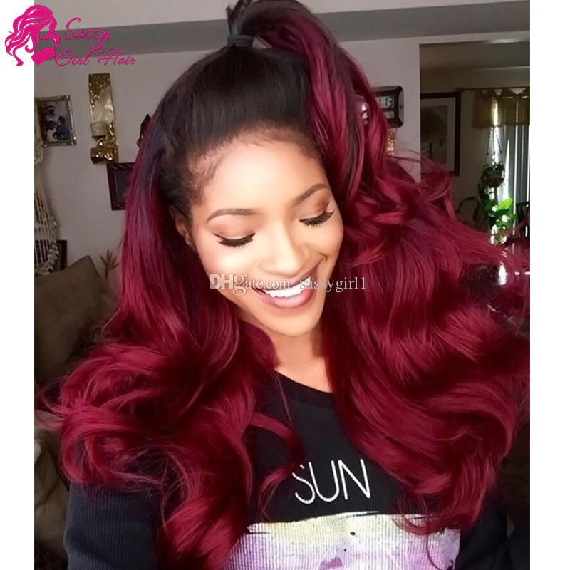 Body Wave Weave 3pc Virgin Human Hair Extensions 1B/99J# Ombre Virgin Hair Products Brazilian Peruvian Malaysian Indian Mongolian European