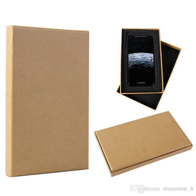 5 قطع التجزئة عالية الدرجة الفاخرة ورقة الصلب التغليف حزمة صندوق مخصص لحالة الهاتف لفون X 8 زائد ورقة علبة هدية