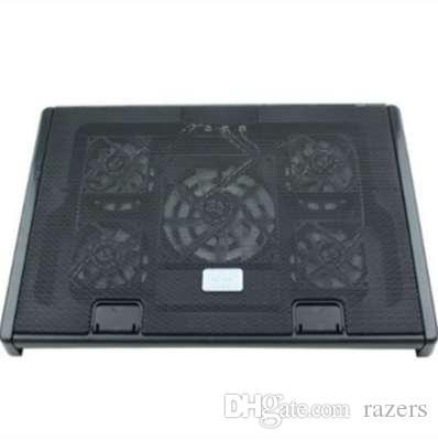 Frete grátis M7 notebook radiador (laptop stand / cooling pad / 5 ventilador / velocidade do vento ajustável e suporte / 15,6 polegadas)