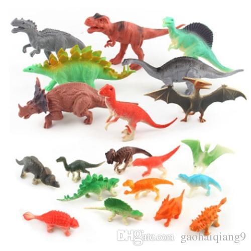 20pcs / set Jurassic Welt Dinosaurier-Fossil Dinosaurier-Modell Spielzeug für Kinder Junge Plastikactionfiguren Tiere Brinquedos Kinder en gros