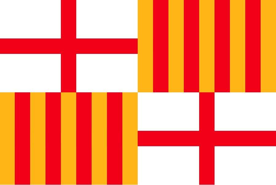 Hiszpania Flaga Barcelona 3FT X 5FT Poliester banner latający 150 * 90 cm niestandardowa flaga na zewnątrz