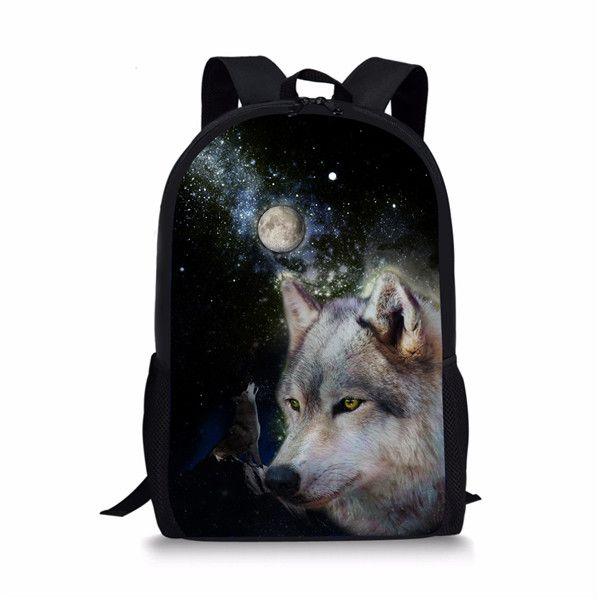 580b0e5de559 Instantarts Cool Wolf Printing Students School Backpack Fashion Big  Capacity School Bags For Boys Travel Laptop Mochilas Teens Best Messenger  Bags ...