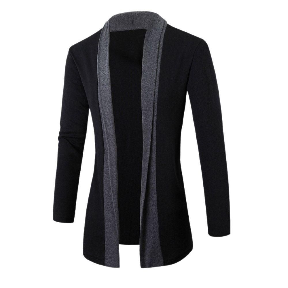 남성 자켓 겨울 자켓 패션 의류 트렌치 코트 스웨터 슬림 긴 소매 카디건 따뜻한 코트 남성 착실히 보내다 망