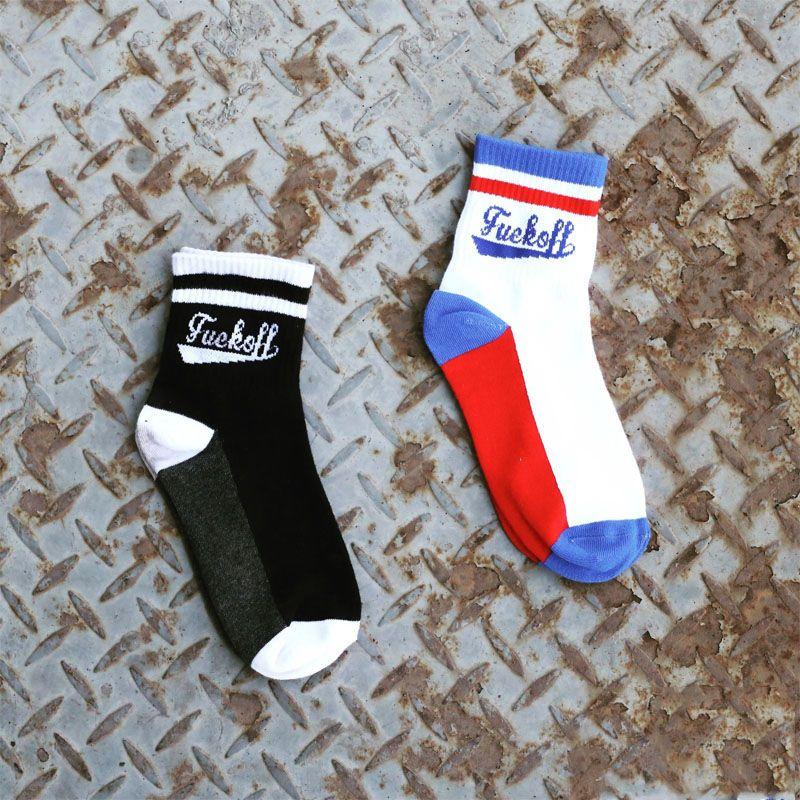 Özgün Tasarım Gelgit Marka Harajuku Tarzı Mektubu Şerit Skate Tüp Pamuk Çorap Erkek ve Kadın Çift Beyzbol Mektuplar Çorap