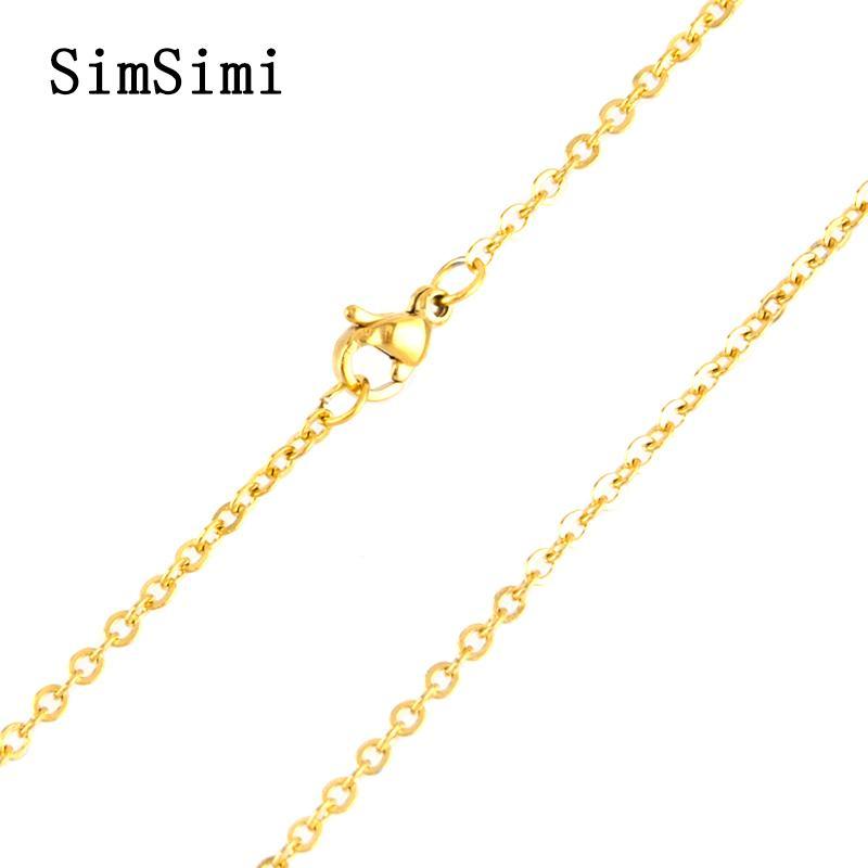 Großhandel 10 stücke Gliederkette Edelstahl Halskette Karabinerverschluss für Frauen Silber Rose Farbe Modeschmuck für Frauen