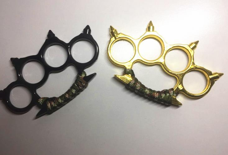 NEW Rope Knit Stainless steel Brass Knuckles Tactical Survival Multi-functional Self Defense EDC Dusters Tool Pendant