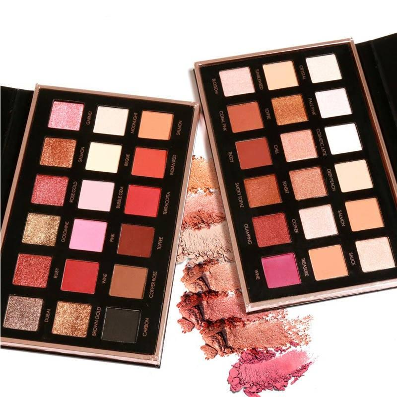 Focallure 18 Colors Eyeshadow Palette Diamond Rose Gold Glitter Eye Shadow In One Palette Makeup Set For Beauty Drop Shipping