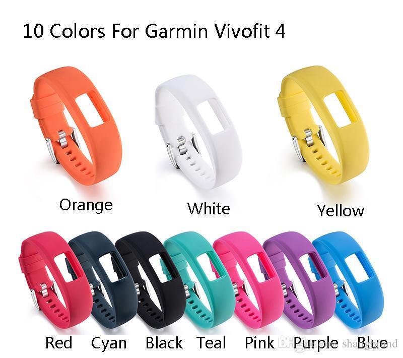 Sostituzione del silicone S L della fascia della cinghia di polso per Garmin Vivofit 4 Attività Fitness Tracker cinturini per Garmin Vivofit4 Wristband