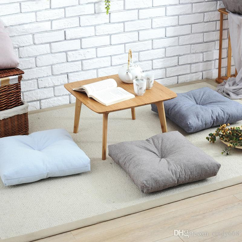 Japan Style Cotton Linen Seat Cushion Mat For Floor Chair Sofa