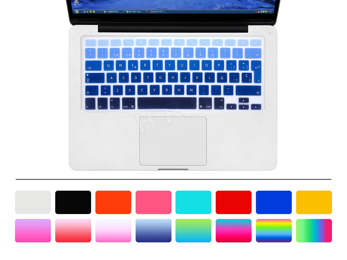 Silicone EU//UK Russian Alphabet Keyboard Cover Stickers Protector for MacBook Air 13 MacBook Pro 13 15 Retina,Gradient Grey